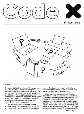 Code X - journal prepostprint